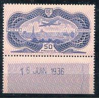 RC 11636 FRANCE PA N° 15 - 50f BURELÉ COTE 800€ NEUF * - Airmail