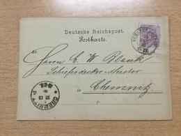 FL2875 Deutsches Reich 1886 Karte Von Scharfenstein Nach Chemnitz - Deutschland