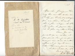 EZPELETA  2 è Chasseurs 1865    MEXIQUE - MEXICO Autographe Escadron De La Contre Guérilla - Autographes