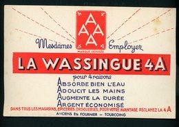 BUVARD:  AAAA LA WASSINGUE 4A - FORMAT  Env. 13X20,5 Cm - Buvards, Protège-cahiers Illustrés