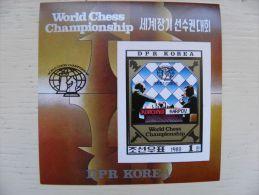 SALE! MNH IMPERFORATED Post Stamps From DPR Korea 1980 World Chess Championship Korchnoi Karpov - Korea, North