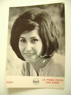 ROSY   LA PRIMA FESTA CHE DARO   15X 10;5  Cm FOTO  RCA   CANTANTE   CHANTEUR   SINGER   SÄNGER - Musica E Musicisti