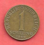 1 Schilling , AUTRICHE , Alu-Bronze , 1969 , N° KM # 2886 - Autriche