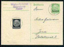 D.Bes.39/45-Luxemburg / 1940 / Postkarte Mi. P 1 Mit Zusatzfrank. Im Fernverkehr O (7273) - Occupation 1938-45