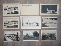2 PHOTOS Du BARRAGE HYDROELECTRIQUE De JONS De 1934/1937 + 7 IMPRESSIONS PAPIER Légendées Du Barrage - Reproductions