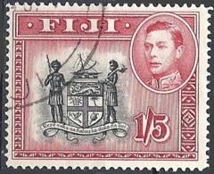 Fiji, 1940 King George VI & Arms Of Fiji, 1sh5p # S.G. 263 - Michel 104 - Scott 128  USED - Fidschi-Inseln (...-1970)