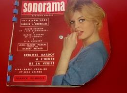 Magazine Sonorama N°23-Oct 1960 -Musique Disque Vinyle Format Spécial-Bricitte Bardot-Gilbert Becaud-Airs Du MoisPubs - Formats Spéciaux