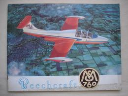 AVIATION Fascicule Publicitaire Avion BEECHCRAFT MS 760 - Publicités