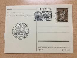 FL2875 Deutsches Reich 1941 Karte Mit Sst. + Mwst. Von Posen Ostdeutsche Kulturtage - Allemagne