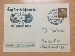FL2875 Deutsches Reich 1937 Sonderkarte Mit Sst. Von Nürnberg Tag Der Briefmarke Journee Du Timbre - Deutschland