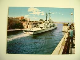 TARANTO   NAVE  DUILIO    SHIP   MARINA  MILITARE  WARSHIP  VIAGGIATA COME DA FOTO  BOLLO RIMOSSO - Guerra