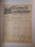 T069 / Facture - Spécialité De Fromages De Comté - Millet à Villards D'Héria - Jura - Factures