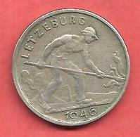 1 Franc , LUXEMBOURG , Cupro-Nickel , 1946 , N° KM # 46.1 - Luxembourg