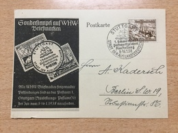 FL2875 Deutsches Reich 1938 Sonderkarte Postwertzeichenausstellung Von Stuttgart - Allemagne
