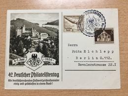 FL2875 Deutsches Reich 1936 Sonderkarte Philatelistentag Mit Sst. Von Lauenstein - Allemagne