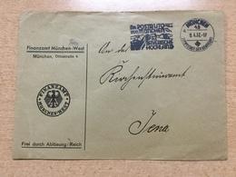 FL2875 Deutsches Reich 1937 Brief Vom Finanzamt München Nach Jena Mwst. Postauto - Allemagne