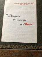 """""""L'Eucharistie Est L'invention De L'Amour"""" (plaquette De 10,5 Cm Sur 13,3 Cm) - Religion & Esotérisme"""