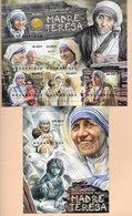TIMBRES - STAMPS - SELLOS - MOZAMBIQUE / MOÇAMBIQUE - 2012 - MÈRE TERESA - SÉRIE ET BLOC AVEC TIMBRE NEUF - MNH - Mère Teresa