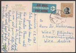 AM115    Jordan 1962 Postcard Air Mail From Bethlehem To Wien Austria - Giordania