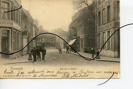 CPA. BELGIQUE.  PERUWELZ .  Rue De La Station . Du Chemin De Fer . - Péruwelz