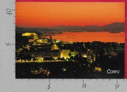 CARTOLINA NV GRECIA - CORFU - Panorama Notturno - 11 X 16 - Grèce