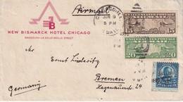 USA LETTRE DE CHICAGO POUR BREMEN - Etats-Unis