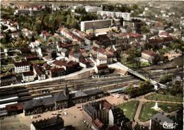 1 Cpsm Sarreguemines - Quartier De La Gare, Vue Aérienne - Sarreguemines