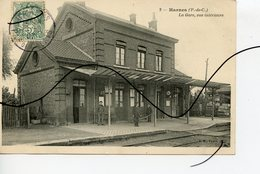 CPA. D62 . Harnes . La Gare . Vue Intérieure.  B. F. PARIS - Harnes