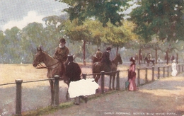 """""""Early Morning Rotten Row, . Hyde Park"""" Tuck Oilette Hyde Park Series PC # 7180 - Tuck, Raphael"""