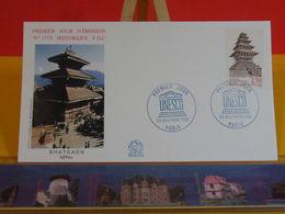 UNESCO. Bhatgaon (Népal) - Paris - 23.11.1991 FDC 1er Jour N°1773 - Coté 2€ - FDC