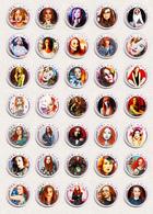 35 X Tori Amos Music Fan ART BADGE BUTTON PIN SET 2 (1inch/25mm Diameter) - Music