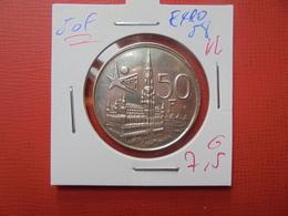 "Baudouin 1er. 50 Francs ""EXPO 1958"" VL. ARGENT. SUPERBE - 1951-1993: Baudouin I"