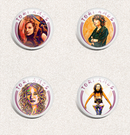 35 X Tori Amos Music Fan ART BADGE BUTTON PIN SET 3 (1inch/25mm Diameter) - Musique