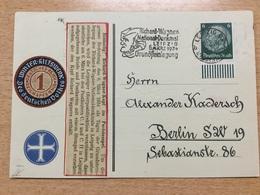 FL2875 Deutsches Reich 1934 Karte Mit Mwst. Von Leipzig Richard Wagner - Allemagne