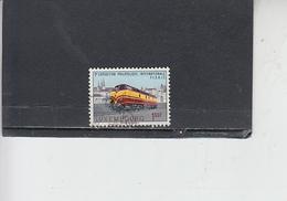 LUSSEMBURGO 1966 - Unificato  686 - Ferrovie - Usati