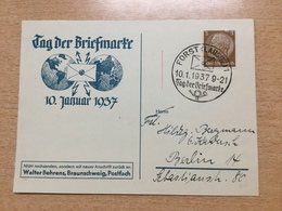 FL2875 Deutsches Reich 1937 Sonderkarte Mit Sst. Von Forst Tag Der Briefmarke Journee Du Timbre - Allemagne