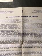 Le Boulversant Message De Fatima (page De 21cm Sur 27 Cm) - Religion & Esotérisme