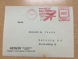 FL2875 Deutsches Reich 1937 Brief Mit Afs Von Leipzig Weihnachtsschau In Der GESCH Weihnachten Noel Christmas - Allemagne