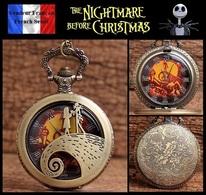 Montre Gousset NEUVE ! ( Pocket Watch ) - The Nightmare Before Christmas ( Ref 3 ) - Montres Gousset