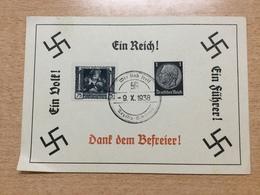 FL2875 Deutsches Reich 1938 Propagandakarte Mit Stempel Von Teplitz-Schönau - Allemagne