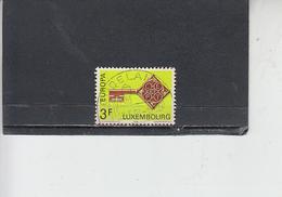 LUSSEMBURGO 1968 - Unificato  724 - Europa - Usati