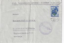 PAYS- BAS 1953 LETTRE DE GRAVENHAGE  1ER VOL AMSTERDAM-KLAGENFURT - 1949-1980 (Juliana)