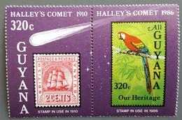 Guyana - YT N°1422, 1423 - Passage De La Comète De Halley / Espace - 1986 - Neufs - Guyane (1966-...)
