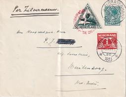 PAYS- BAS 1933 LETTRE DE GRAVENHAGE  VOL SPECIAL - 1891-1948 (Wilhelmine)