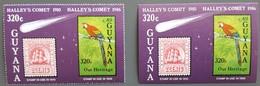 Guyana - YT BF N°11, 11a - Passage De La Comète De Halley / Espace - 1986 - Neufs - Guyane (1966-...)