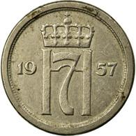Monnaie, Norvège, Haakon VII, 10 Öre, 1957, TB+, Copper-nickel, KM:396 - Norvège