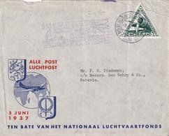 PAYS- BAS 1937 LETTRE DE AMSTERDAM - 1891-1948 (Wilhelmine)