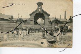 CPA. D59. ROUBAIX  L'abattoir . Attelages. Sur L'Attelage Publicité La Consommation.  E. C. - Roubaix
