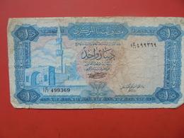 Libye 1 DINAR 1971/72 CIRCULER - Libye