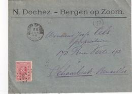 PAYS- BAS 1892 LETTRE DE BERGEN - 1891-1948 (Wilhelmine)